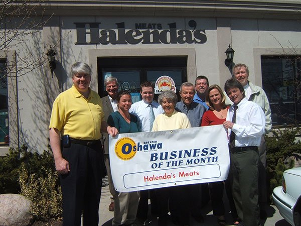 halendas winning business of the month for the city of Oshawa
